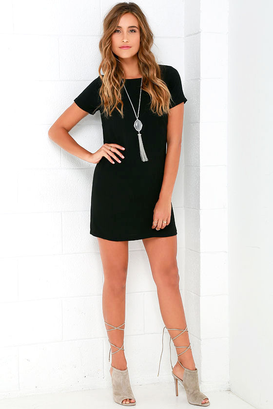 Shift and Shout Black Shift Dress 2