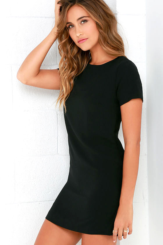Shift and Shout Black Shift Dress 3