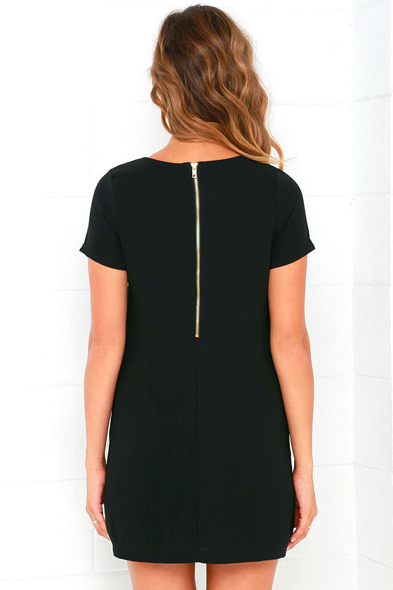Shift and Shout Black Shift Dress 4