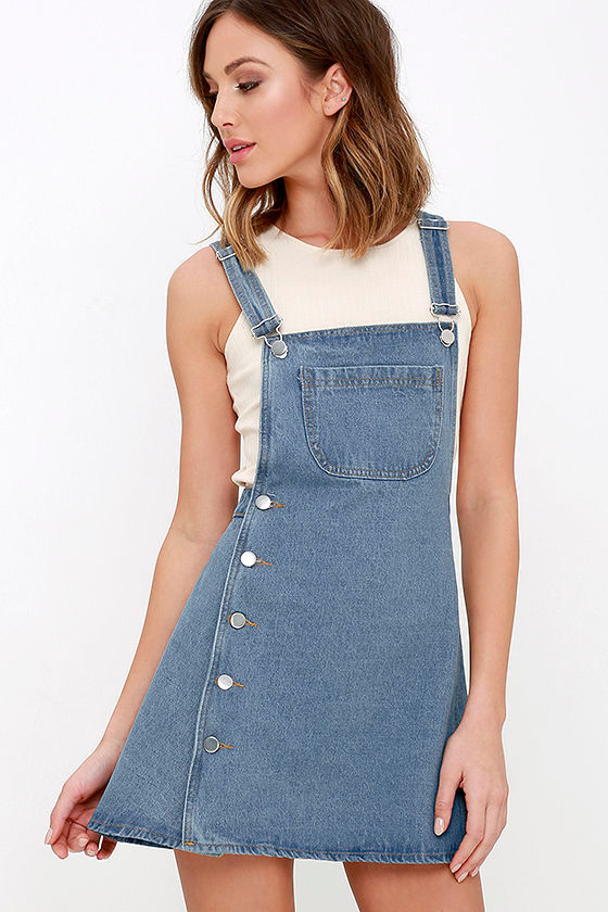 c3ac2bcb2af Field Trip Medium Wash Denim Dress