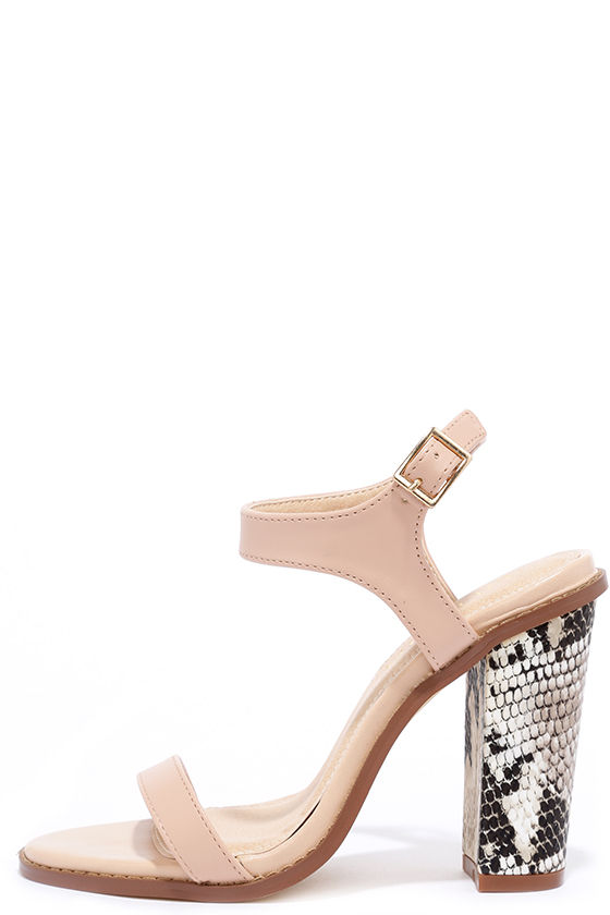 eeac310c7c36 Cute Nude Heels - Ankle Strap Heels - High Heel Sandals -  33.00