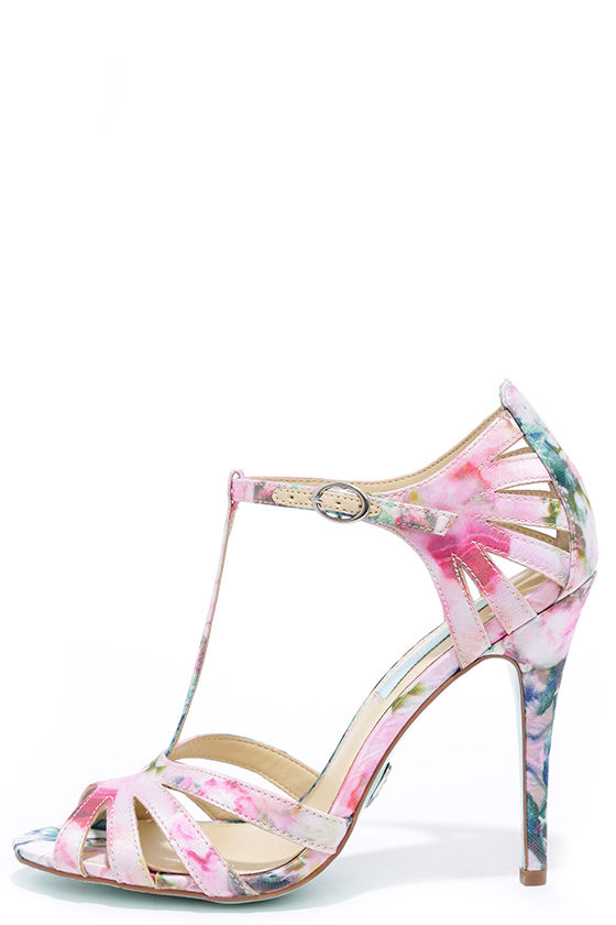 Pretty Dress Sandals - Floral Shoes - Strappy Heels - $69.00