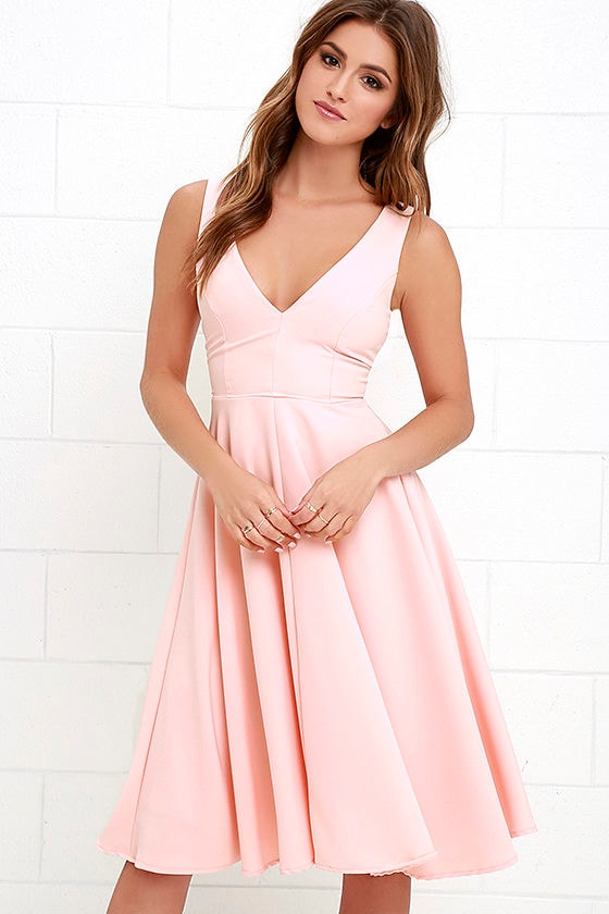 Of My Dreams Peach Midi Dress at Lulus.com!