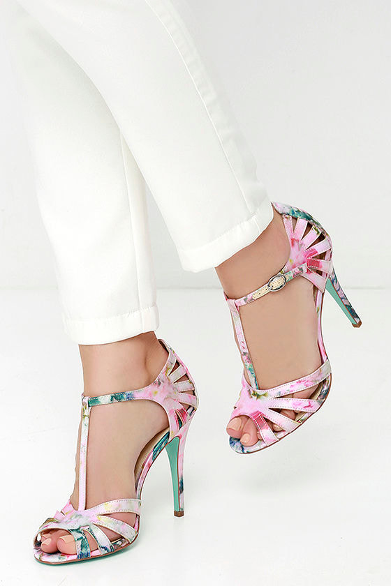 e51990dd6 Pretty Dress Sandals - Floral Shoes - Strappy Heels -  69.00
