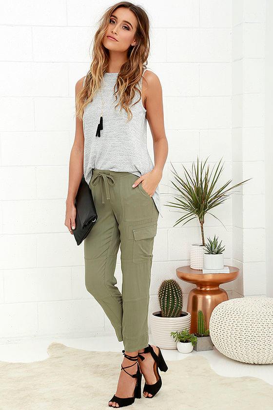 Chic Olive Green Pants - Jogger Pants - Cargo Pants -  76.00 9222a243c