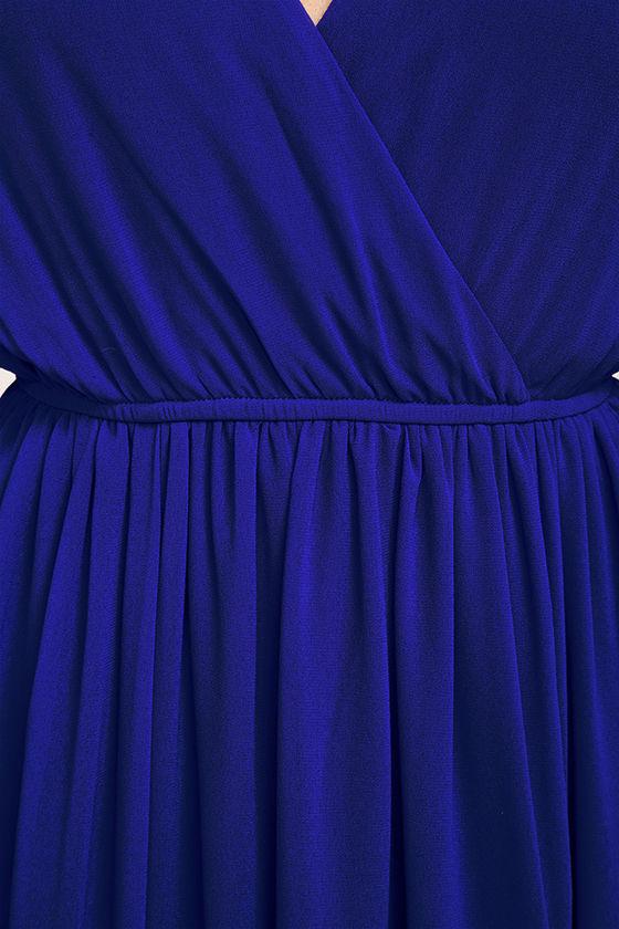 Wondrous Water Lilies Royal Blue Maxi Dress 6