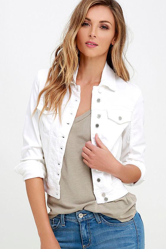 Blank NYC White Denim Jacket - Denim Jacket - White Jacket ...