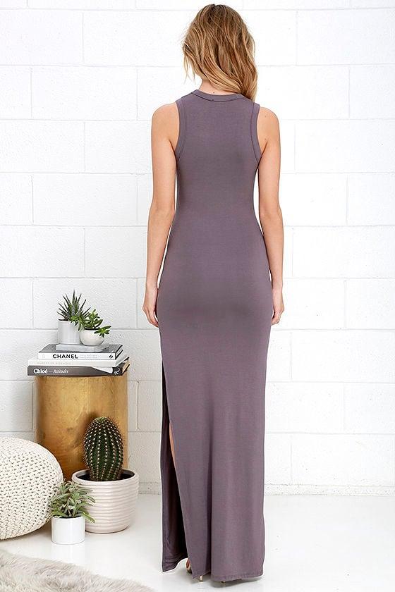 Shield and Sword Dusty Purple Sleeveless Maxi Dress 4