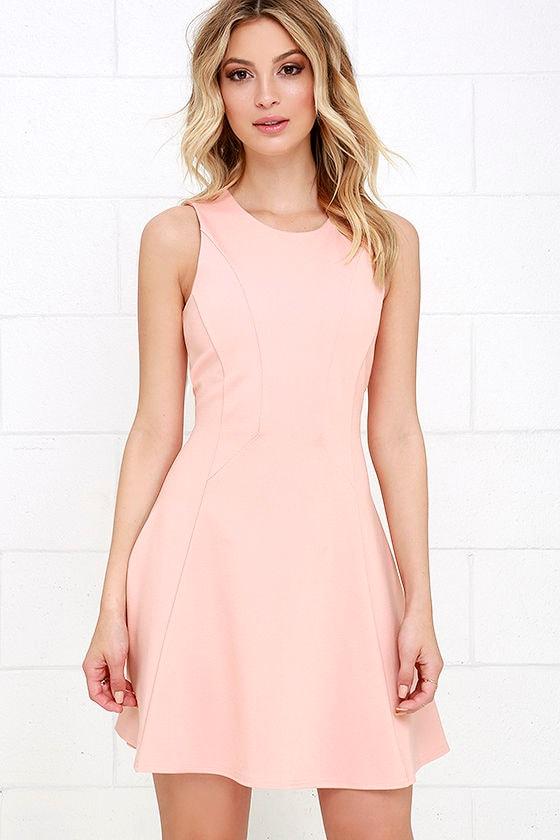 black swan liana peach dress fitandflare dress 7100