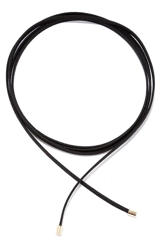 Ride or Tie Black Wrap Necklace 2