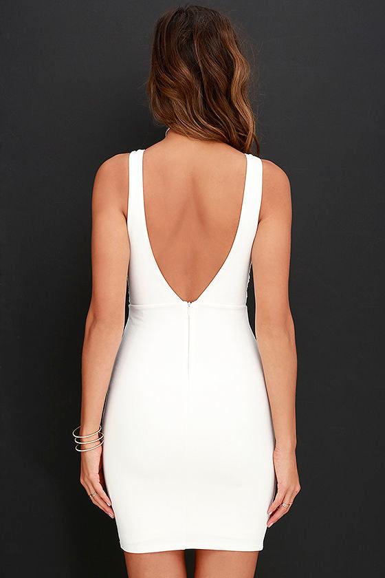 Coquina White Lace Bodycon Dress 4