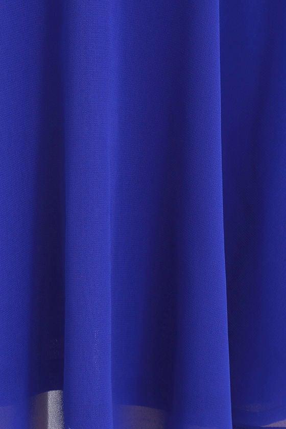 Good Deeds Royal Blue Lace-Up Dress 6