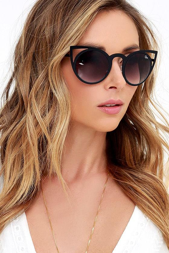 9d180b70d45 Quay Invader Sunglasses - Black Sunglasses - Cat Eye Sunglasses -  50.00