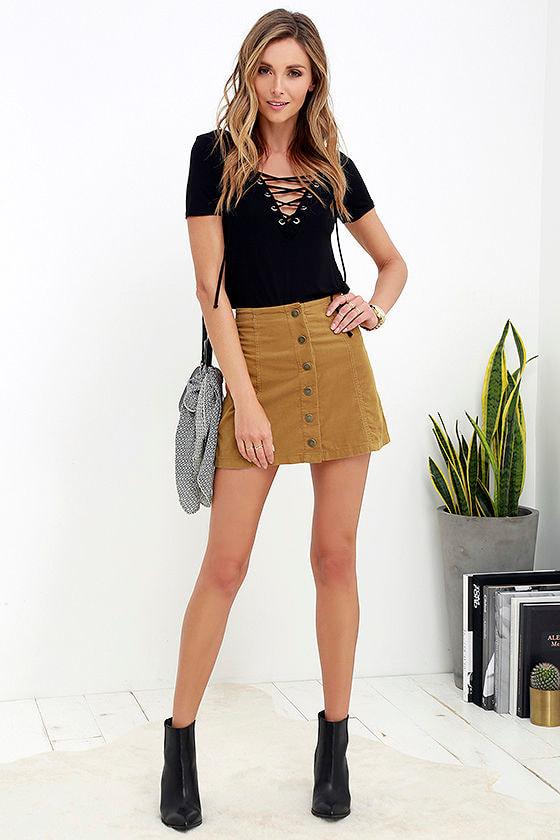 90b1cf541 White Crow Austin Skirt - Tan Skirt - Corduroy Skirt - $55.00