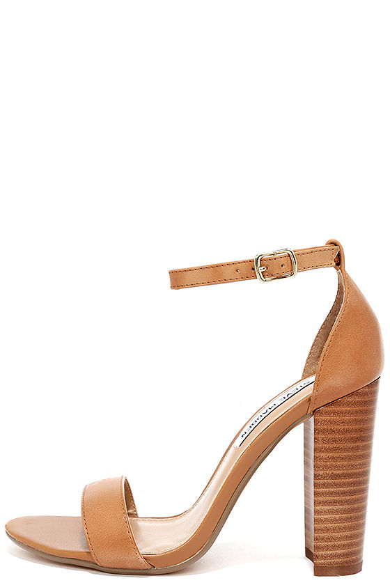 Lulus Castro Tan Genuine Suede Leather High Heel Sandal Heels - Lulus EoNYO