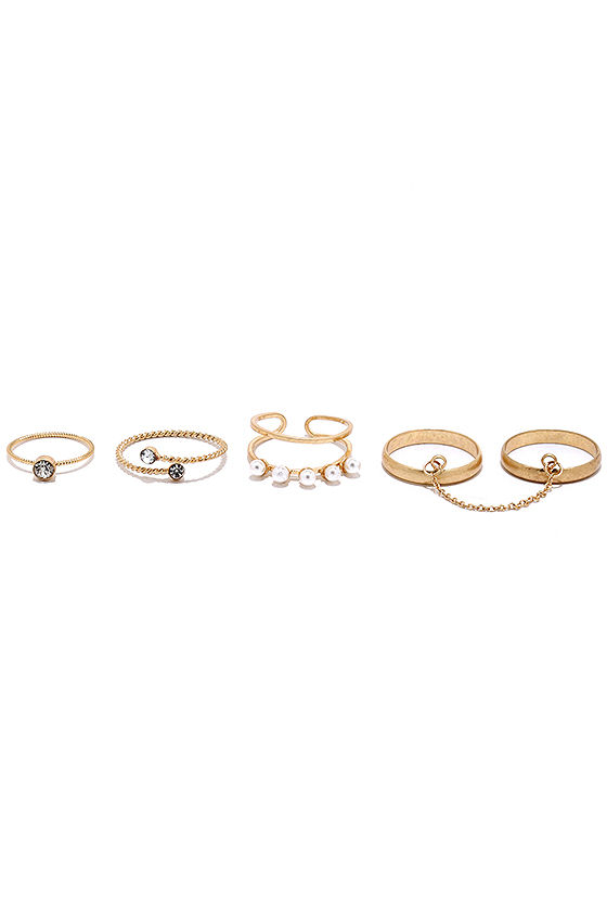 On-Set Gold Ring Set 2