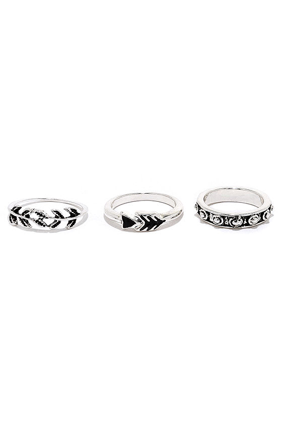 Under Your Charm Silver Ring Set 5