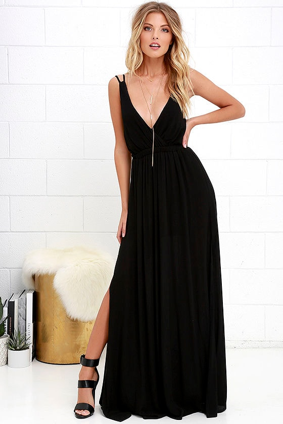 Cool black maxi dress outfits