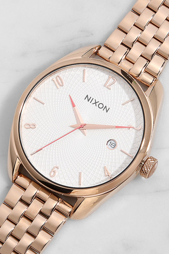 Nixon Bullet Rose Gold and Silver Watch 1
