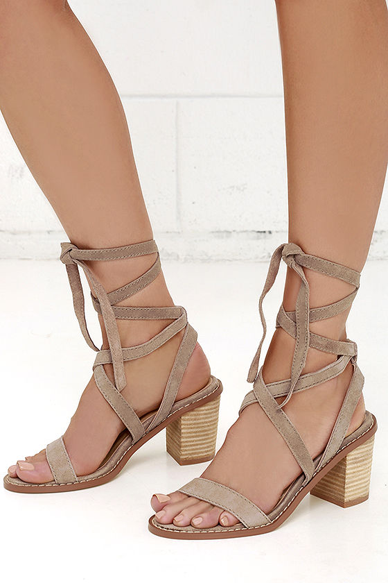 CHINESE LAUNDRY CALVARY DUST GREY SUEDE LEATHER LACE-UP SANDALS on The Hunt 3a9eb4206e