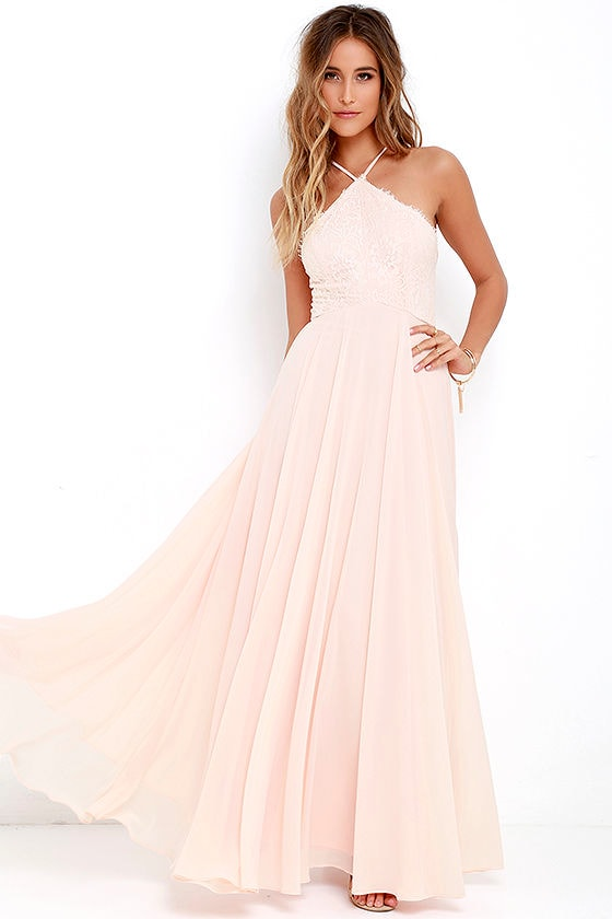 We have dresses in all sizes, even you can't find the dress of your dream in the size you want, we can also offer custom made service. Once you choose one of the magnificent Light Peach Bridesmaid Dresses from the Dorriswedding online store, you can expect to draw attention wherever you go/5(79).