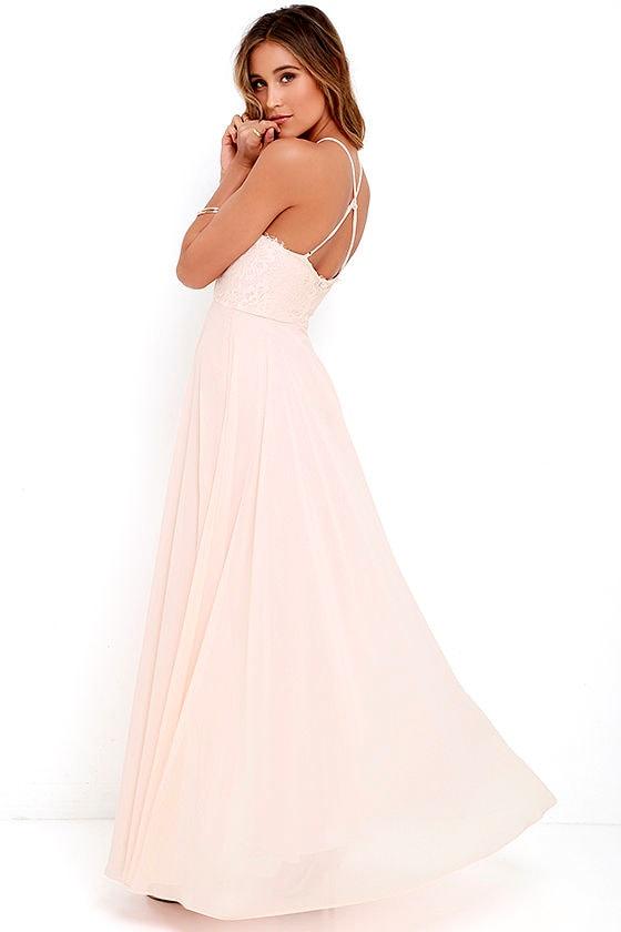 Peach Maxi Dresses for Wedding