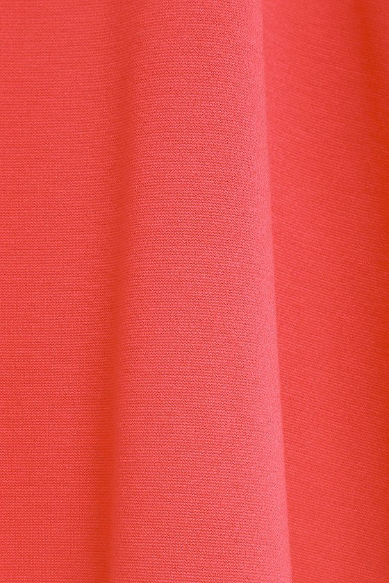 Cumulonimbus Clouds Coral Red Skater Dress 6