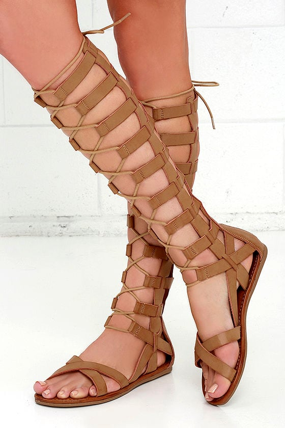 d34a9590300a Cute Natural Sandals - Tall Gladiators - Gladiator Sandals -  71.00