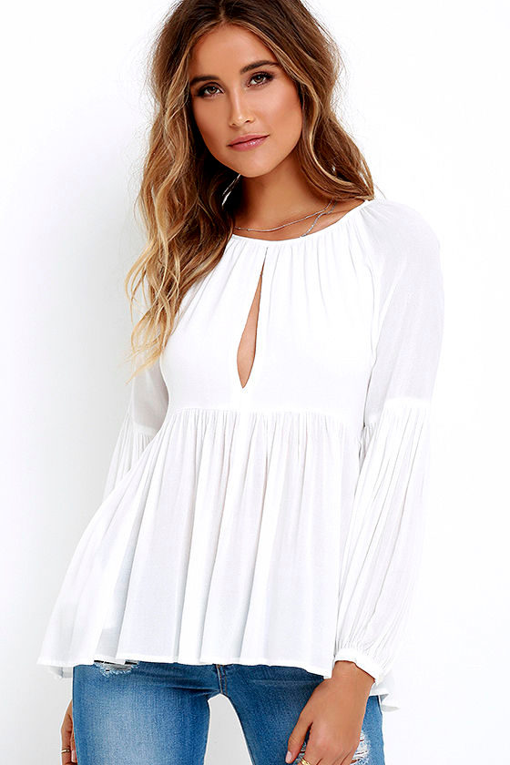 Limitless Love Ivory Long Sleeve Top 1