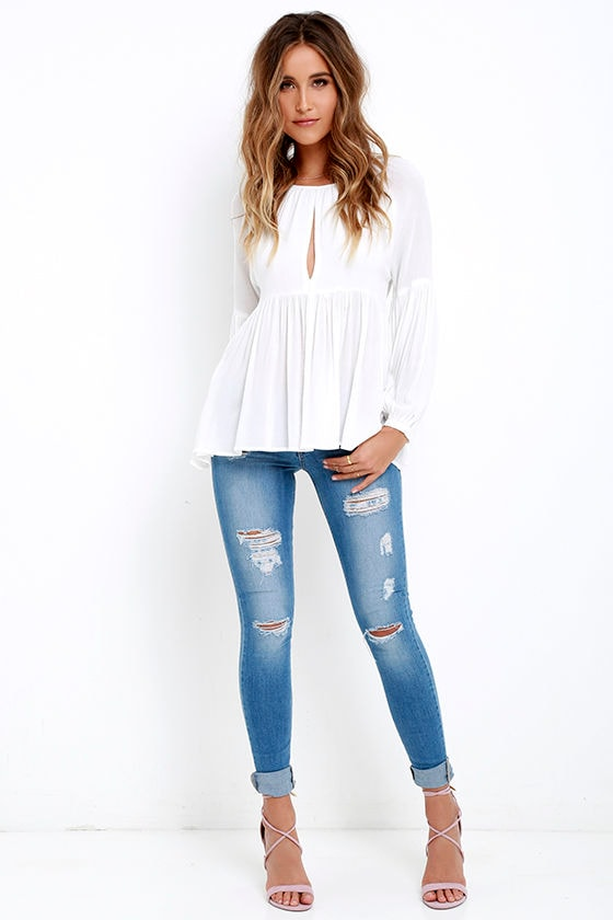 Limitless Love Ivory Long Sleeve Top 2
