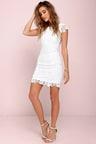 Cute Backless Dress - Ivory Dress - Lace Dress -  58.00 5b858fc89