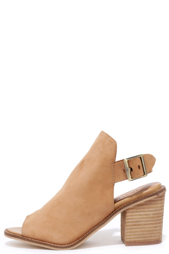 Chinese Laundry Caleb Natural Suede Leather Ankle Booties 1