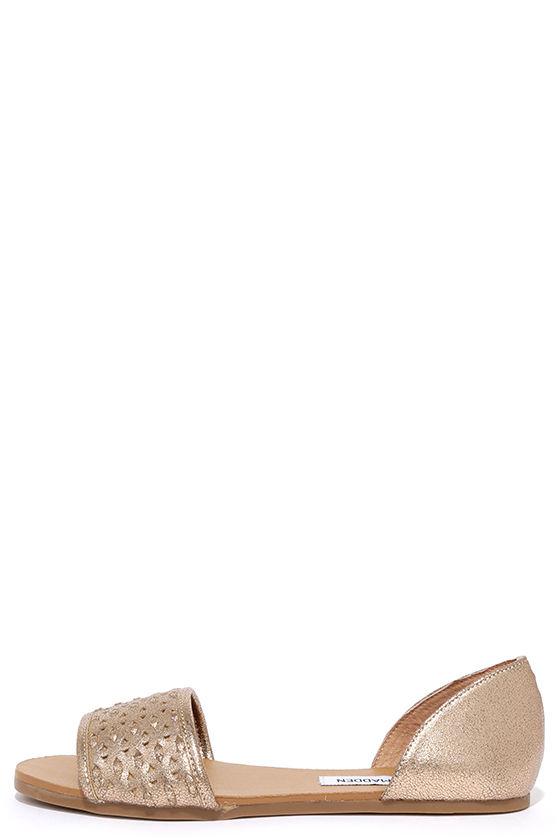 1e2713001b4 Steve Madden Taylerr Dusty Gold Flat Sandals