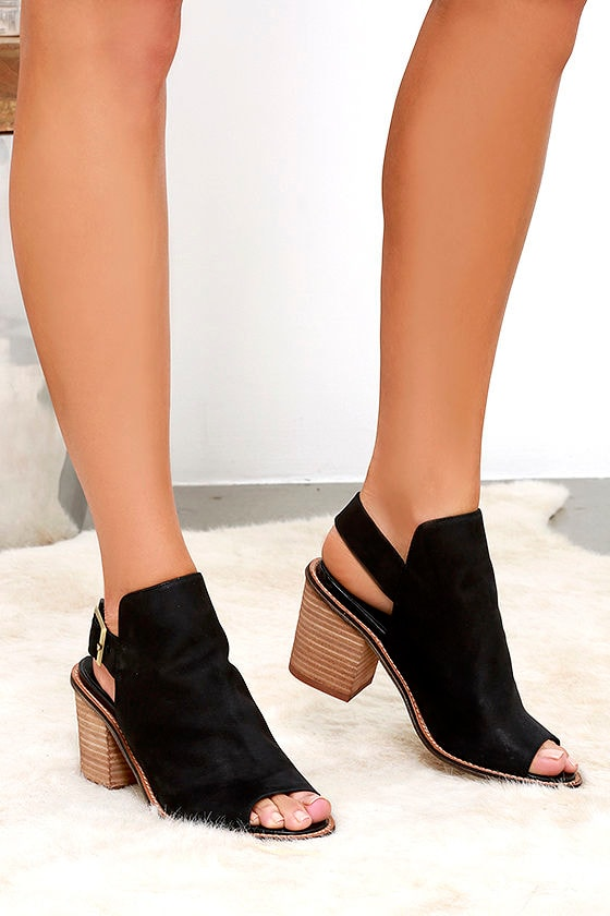a7f63bb15d5 Cute Black Booties - Suede Booties - Ankle Booties -  130.00