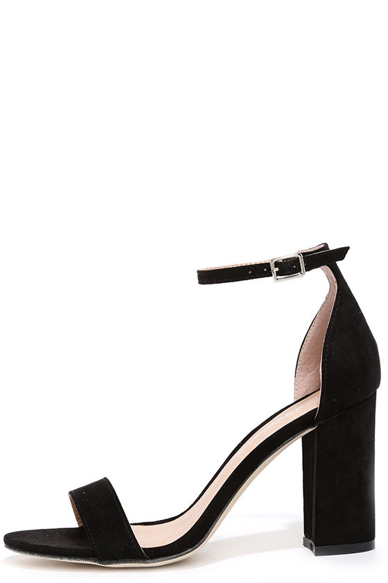 Cute Black Heels - Ankle Strap Heels - Black Shoes - $49.00