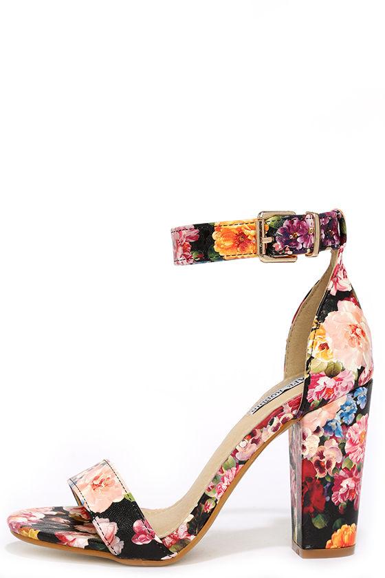 Cute Floral Heels Ankle Strap Heels Dress Sandals 35 00