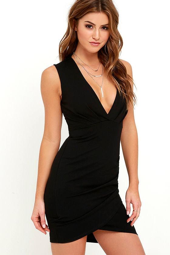 Cocktail Hour Black Wrap Dress 3