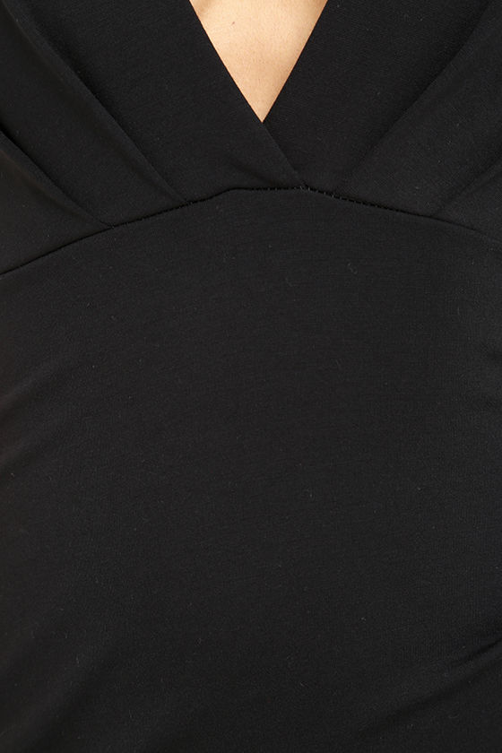 Cocktail Hour Black Wrap Dress 6