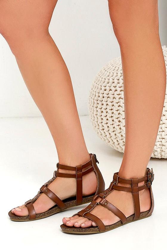 3b45831ae811 Blowfish Gotten - Whiskey Brown Sandals - Gladiator Sandals -  49.00