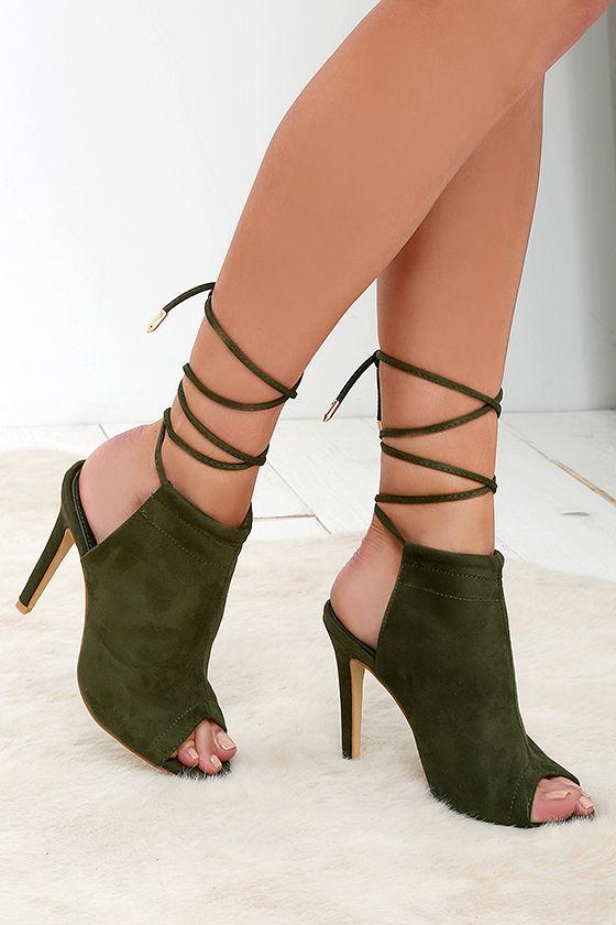 Olive High Heel Shoes