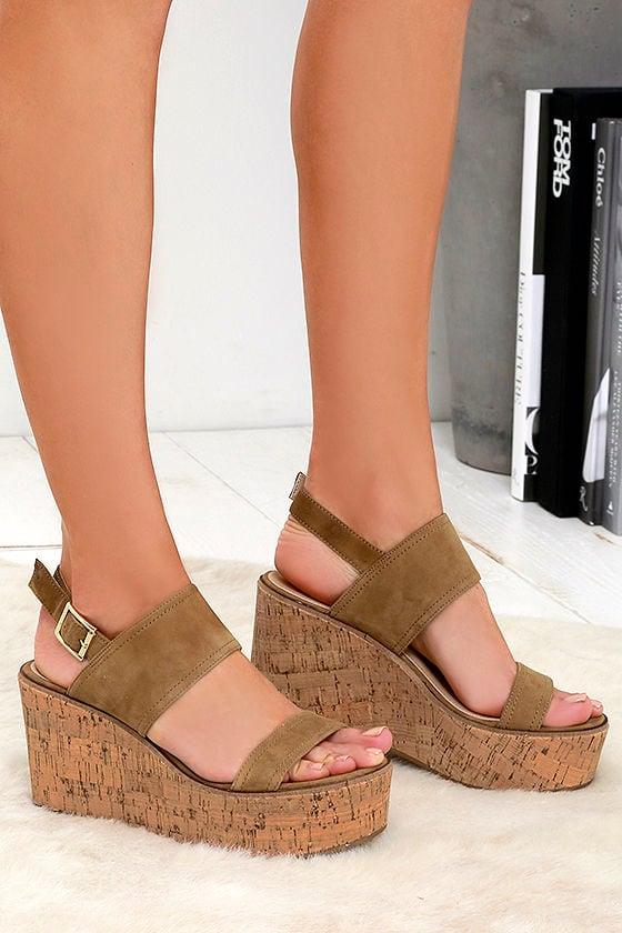 00d82fdc9d8 Cute Suede Sandals - Platform Sandals - Wedges - Flatforms -  89.00
