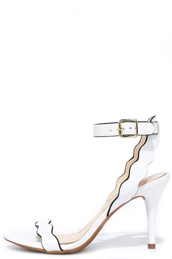 5ca1533ed0d Pretty White Heels - Kitten Heels - Dress Sandals -  85.00