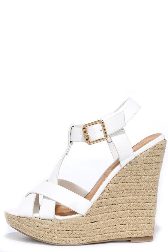 white espadrille wedges open toe