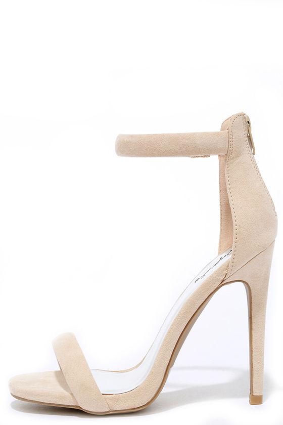 28d3fcae9dcb Pretty Nude Heels - Ankle Strap Heels - Dress Sandals -  29.00