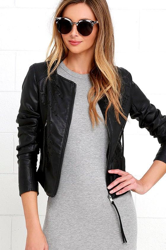 eee76af04 Blank NYC Through and Through Jacket - Black Vegan Leather Jacket ...