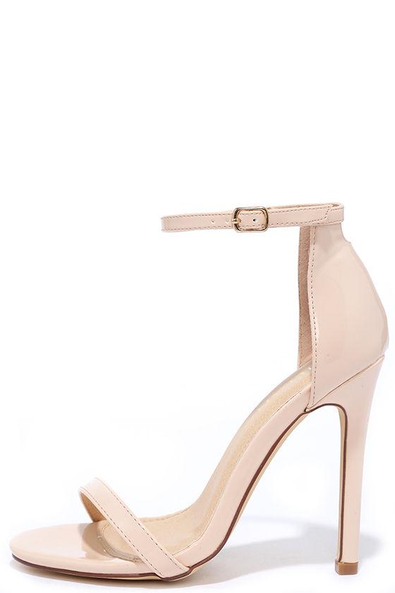 f076179bebd9 Sexy Nude Heels - Patent Heels - Nude Single Sole Heels -  28.00