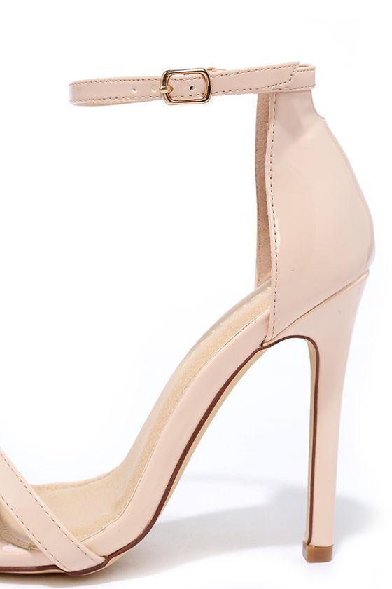 Sexy Nude Heels - Patent Heels - Nude Single Sole Heels - $28.00