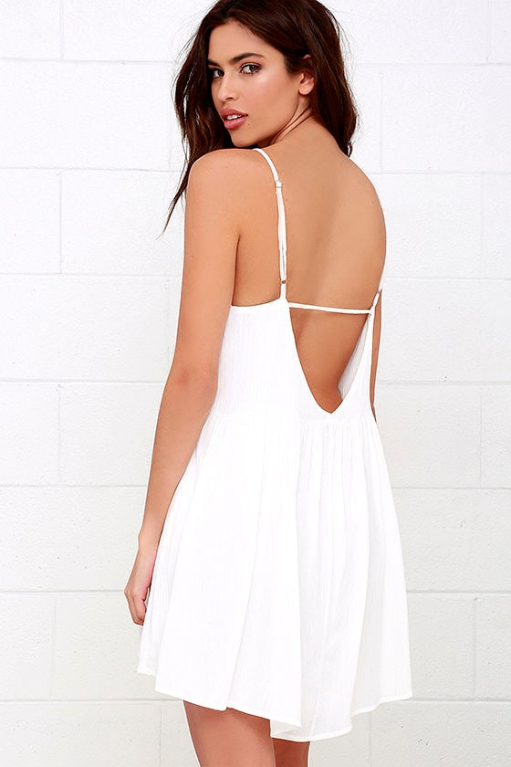 Lovely Ivory Dress - Babydoll Dress - Swing Dress - $45.00
