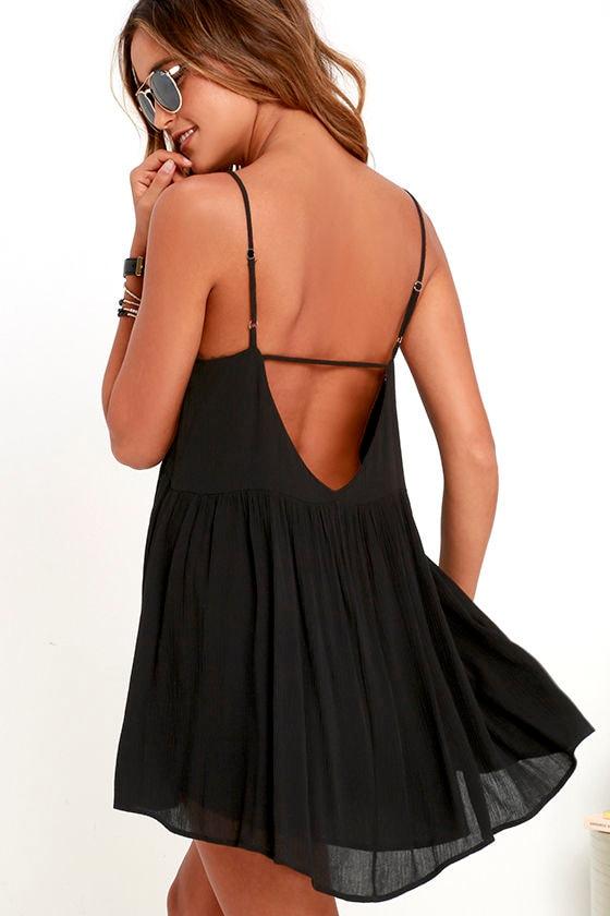 Lovely Black Dress - Babydoll Dress - Swing Dress - $45.00