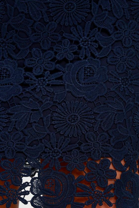 Love Poem Navy Blue Lace Dress 6